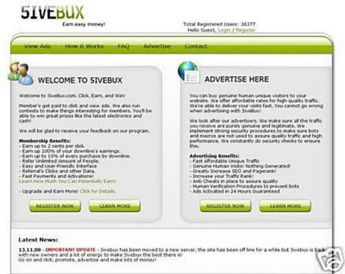 Product picture 5ivebux-script ptc -alerpay and egold paymen